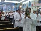 Missa especial celebra retorno de imagem de santa após furto em igreja