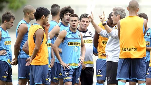 Oswaldo de Oliveira conversa com time do Botafogo (Foto: Alexandre Cassiano / Agência o Globo)
