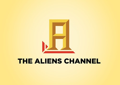 O History Channel, conhecido pelos programas sobre alienígenas ganha até novo logo (Foto: HonestSlogans)