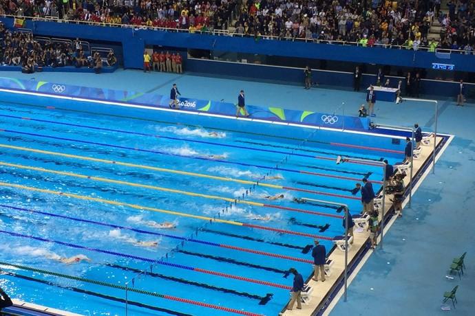 Thiago Pereira; Michael Phelps; Ryan Lochte (Foto: GloboEsporte.com)