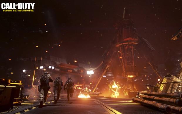 'Infinite Warfare' leva série 'Call of Duty' para combates no espaço (Foto: Divulgação/Activision)