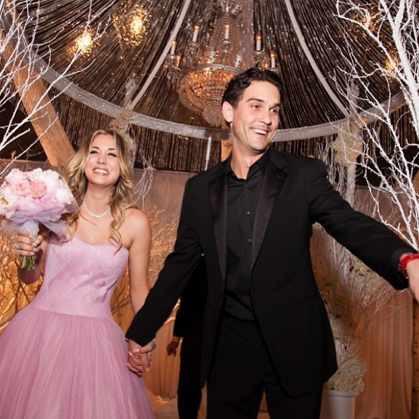 Kaley Cuoco, de 'The Big Bang Theory', e o tenista Ryan Sweeting (Foto: Reprodução / Instagram)