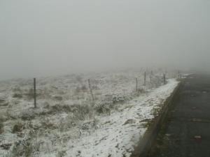 Neve é registrada no Parque todos os anos (Foto: Marcos Hiroshi/Parque Nacional de São Joaquim)