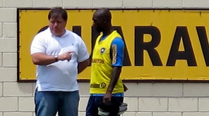 anderson barros fabio ferreira seedorf botafogo treino (Foto: Thales Soares / Globoesporte.com)