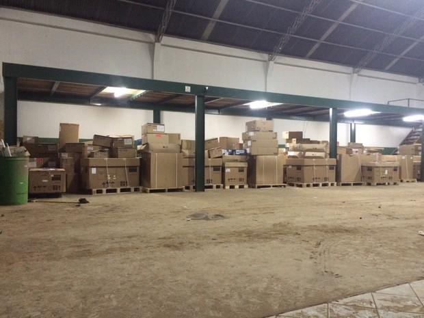 Restante de carga foi apreendido em Colatina, no Espírito Santo (Foto: Divulgação/ Polícia Civil do Mato Grosso do Sul)