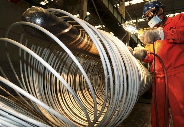 Indústria ; produção industrial ; siderurgia ; aço ;  (Foto: Arquivo/Reuters)