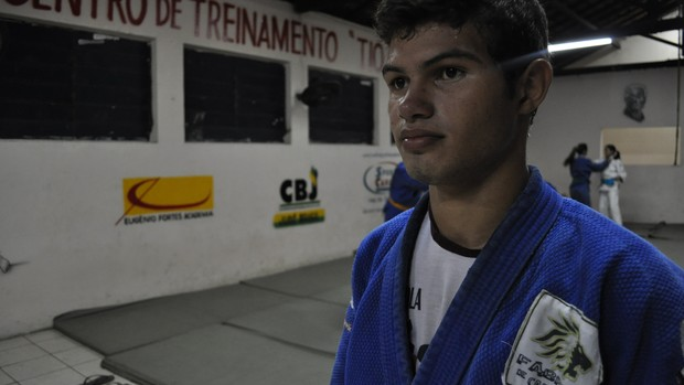 David Silva - Judô - Piauí (Foto: Renan Morais/GLOBOESPORTE.COM)