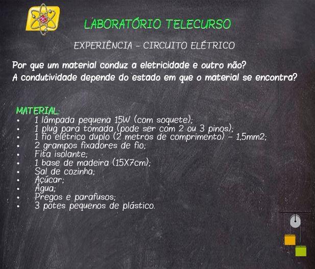 LabTC circuito elétrico 2 (Foto: Telecurso)