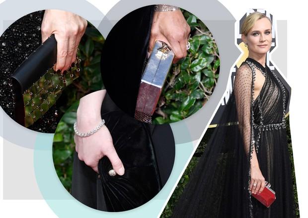 As clutches que foram hit no Golden Globe (Foto: Arte Vogue Online)