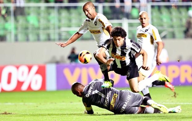 Luan jogo Atlético-MG contra Botafogo (Foto: Cristiane Mattos / Agência Estado)