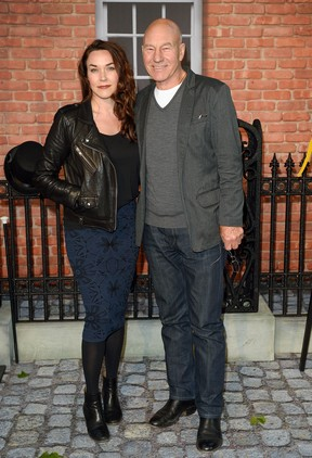 Patrick Stewart e Sunny Ozell (Foto: Getty Images)