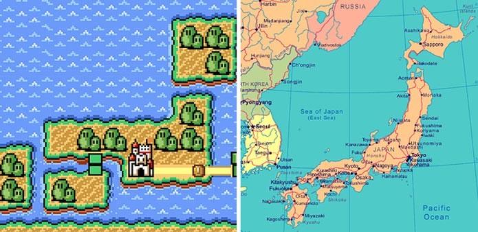 Similaridades nos mapas (Foto: Reprodução)