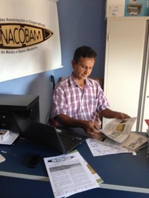 Presidente do Conacobam fala da fertilidade das terras ribeirinhas de Porto Velho (Foto: Larissa Matarésio/G1)