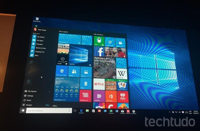 Windows 10 é demonstrado em São Paulo em evento que recebeu Insiders (Foto: Laura Martins/TechTudo)