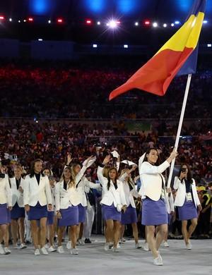 Catalina Ponor cerimônia de abertura (Foto: Getty Images)