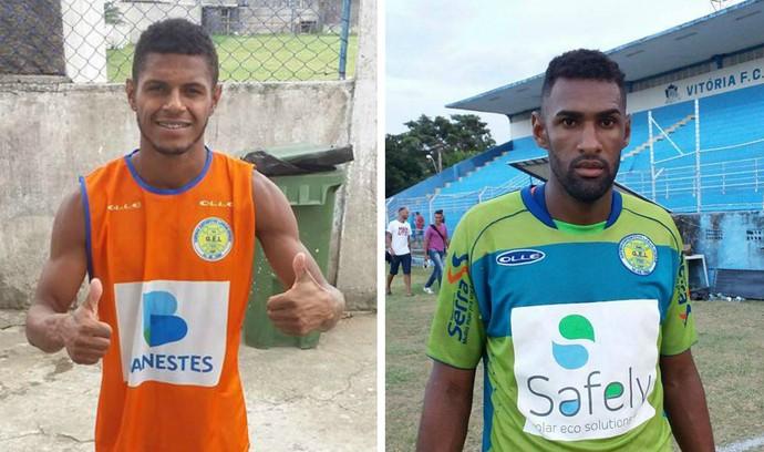 Lateral-esquerdo Jonathan e goleiro Fabrício, do GEL (Foto: Richard Pinheiro/GloboEsporte.com)