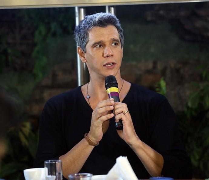 Márcio Garcia na coletiva do Tamanho Família (Foto: Isabella Pinheiro/Gshow)