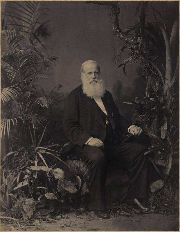 Retrato de Pedro II, Imperador do Brasil, em 1883 no Rio de Janeiro (Foto: Joaquim Insley Pacheco/Acervo BN)