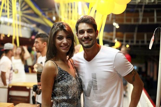 Ex-BBBs Franciele Almeida e Diego Grossi (Foto: Isac Luz/EGO)