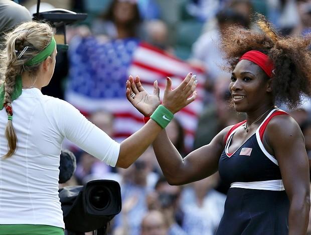 Serena Williams tênis Londres 2012 Olimpíadas semi Victoria Azarenka (Foto: Reuters)