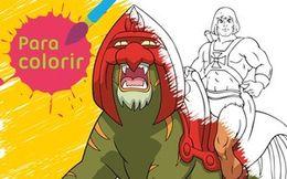 Para colorir: He-Man poderoso