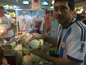 Argentino ressalta hospitalidade dos brasileiros (Foto: Daniel Silveira/G1)