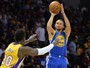Com Curry e Durant afinados, Warriors seguram Lakers e vencem mais uma
