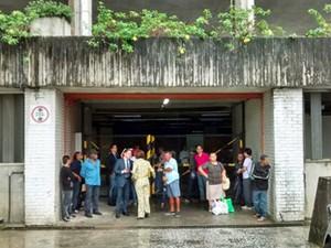 Pessoas que tinham audiências marcadas para esta quarta não puderam entrar (Foto: Camila Torres / TV Globo)