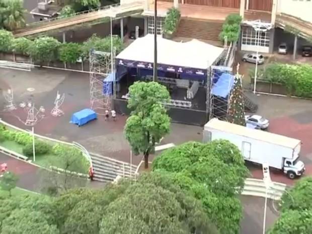 Olímpia terá a festa na praça da Matriz (Foto: Reprodução/TV TEM)