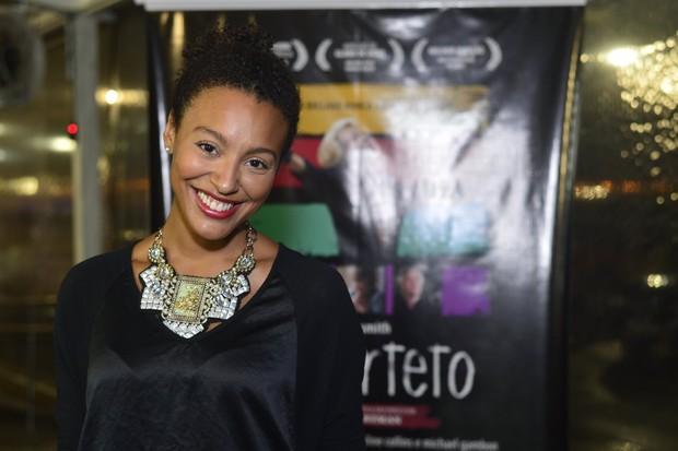 Sheron Menezzes em pré-estreia de filme no Rio (Foto: André Muzell/ Ag. News)