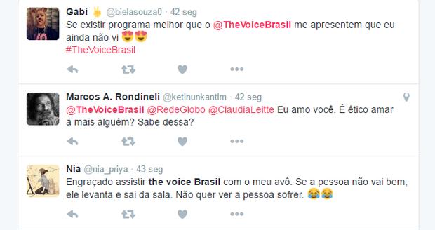 Estreia de The Voice Brasil bomba na web (Foto: Reprodução/Twitter)