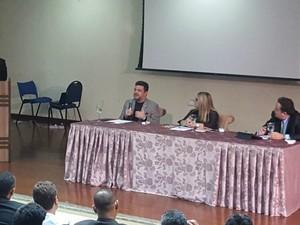 Pastor Marcos Feliciano participa de debate em Palmas (Foto: Kristoferson Moreira/TV Anhanguera)