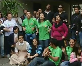 Peregrinos chegam a Volta Redonda (Foto: Reprodução)