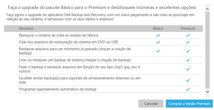 Dell Backup and Recovery Manager Premium está disponível com mais recursos (Foto: Thiago Barros/Reprodução) (Foto: Dell Backup and Recovery Manager Premium está disponível com mais recursos (Foto: Thiago Barros/Reprodução))