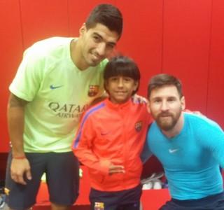 Suárez Manu Messi Barcelona joia Grêmio (Foto: Arquivo Pessoal)
