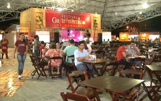 Começou mais uma edição do Festival Gastronômico de Roraima (Foto: Bom Dia Amazônia)
