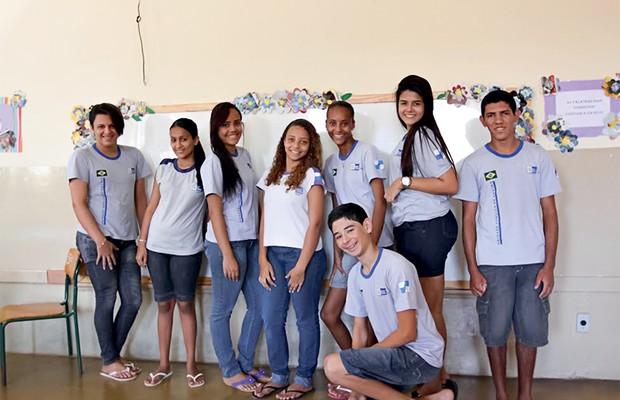 QUALIDADE AIunos da escola Oscar Batista, de Cambuci, Rio de Janeiro. No município, 59% dos estudantes têm bom ensino  (Foto: Reprodução)