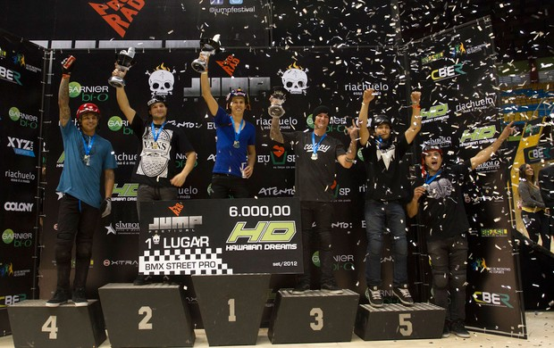 P&#243;dio BMX Pro Rad (Foto: Chico Morais / Divulga&#231;&#227;o)