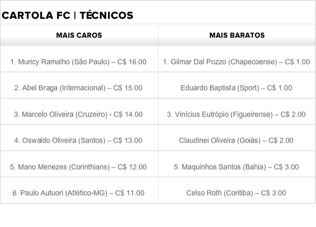 Técnicos Cartola FC 2014 (Foto: Leandro Silva)