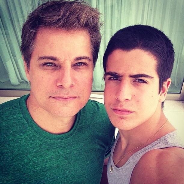 Edson Celulari e Enzo (Foto: Reprodução/Instagram)