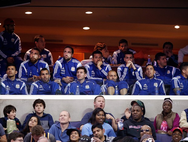Messi e Jogadores da Argentina assistem os Wizards na NBA