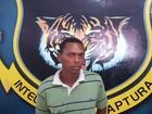 Foragido em Roraima é reconhecido e preso enquanto tomava café