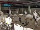 Subsolo de hospital no DF acumula equipamentos de UTI sem utilização