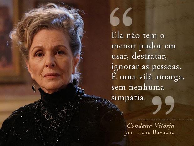 Card Condessa Vitória - Irene Ravache (Foto: Fábio Rocha/Gshow)