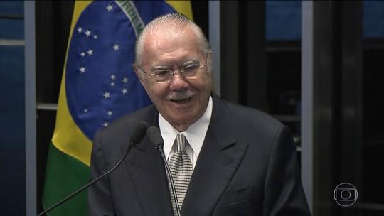 """José Sarney diz, em nova gravação, que há uma """"ditadura da Justiça"""""""