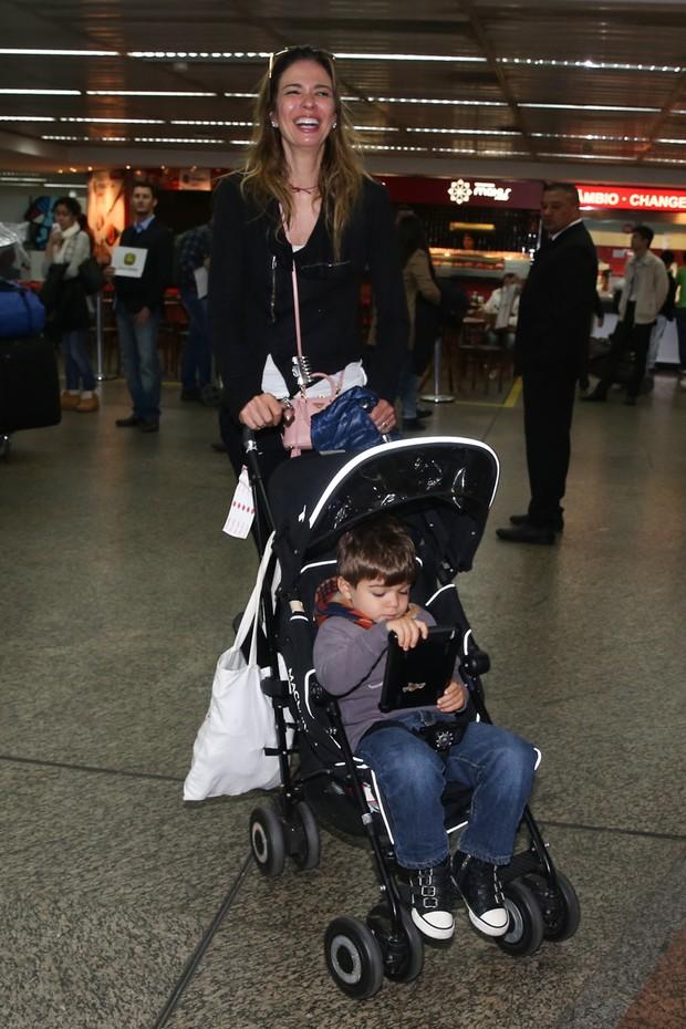 Luciana Gimenez e o filho  (Foto: Manuela Scarpa /Foto Rio News)