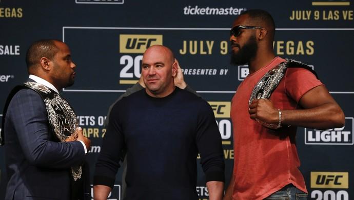 Daniel Cormier, Jon Jones, UFC 200, coletiva (Foto: Getty Images)