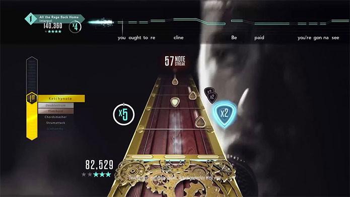Em Guitar Hero é possível cantar com headsets (Foto: Divulgação/Activision)
