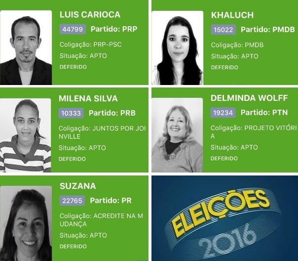 Cinco candidatos não receberam votos em SC (Foto: Montagem/G1)