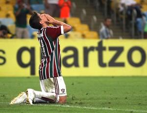 Conca comemora gol do Fluminense contra o Criciúma